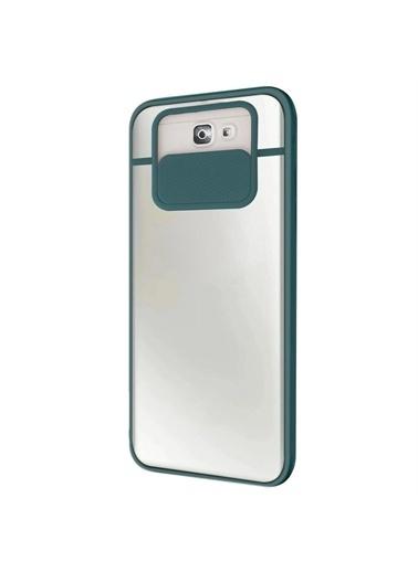 Microsonic Samsung Galaxy J7 Prime Kılıf Slide Camera Lens Protection Kırmızı Yeşil